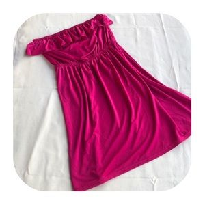 6/$15 Juniors S strapless pink dress